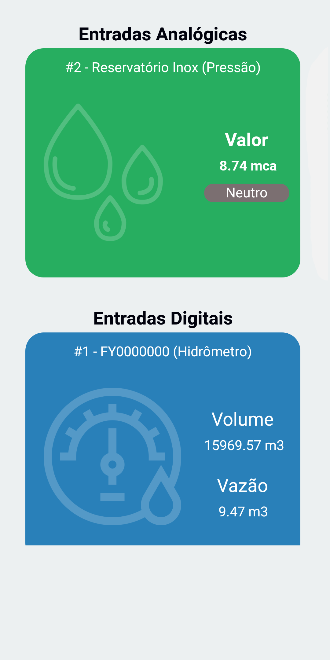 Central – Entradas Analógicas e Digitais