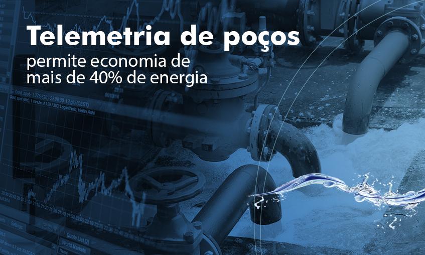 Telemetria de poços e água em geral gera economia de energia