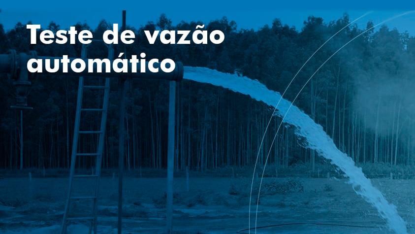 Teste de vazão automático - G Hidro Monitoramento de Água e Energia