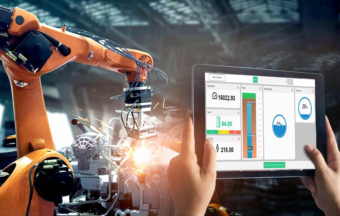 Medir consumo de energia na indústria